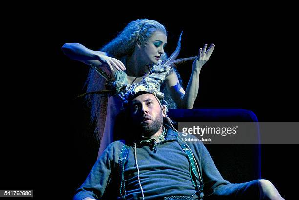 Gillian Keith and Matthew Rose in the production 'A Midsummer Night's Dream' at the Linbury Theatre Royal Opera House Covent Garden in London