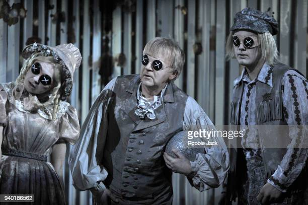 Gillian Keith as Ghost Child 1 Harry Nicoll as Ghost Child 2 and Dominic Sedgwick as Ghost Child 3 in the Royal Opera's production of Mark Anthony...