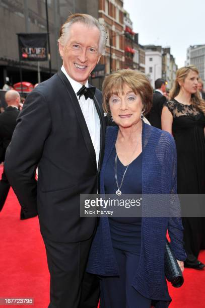 Gillian Lynne and Peter Land attend The Laurence Olivier Awards at The Royal Opera House on April 28 2013 in London England