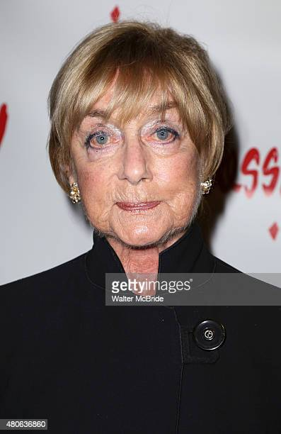 Gillian Lynne attends the opening night performance of Ruthless The Musical at the St Luke's Theatre on July 13 2015 in New York City