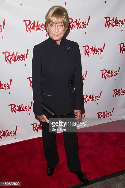 Gillian Lynne attends the Ruthless The Musical opening night at St Luke's Theater on July 13 2015 in New York City