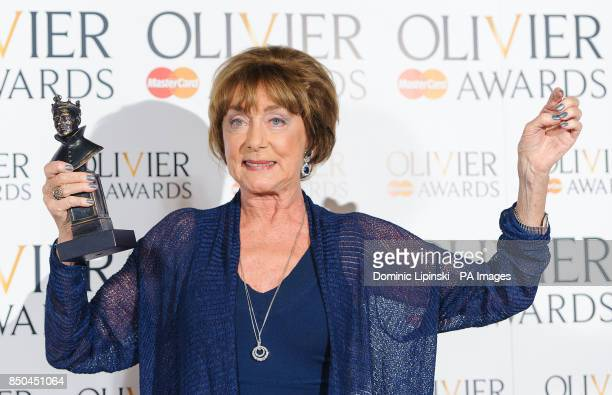 Gillian Lynne special award winner in the press room at the Olivier Awards 2013 at the Royal Opera House in Covent Garden central London