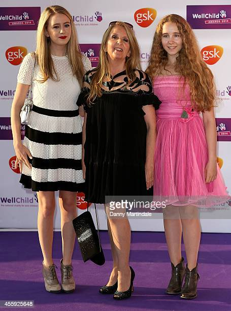 Gillian McKeith and daughters attend the WellChild Awards at London Hilton on September 22 2014 in London England