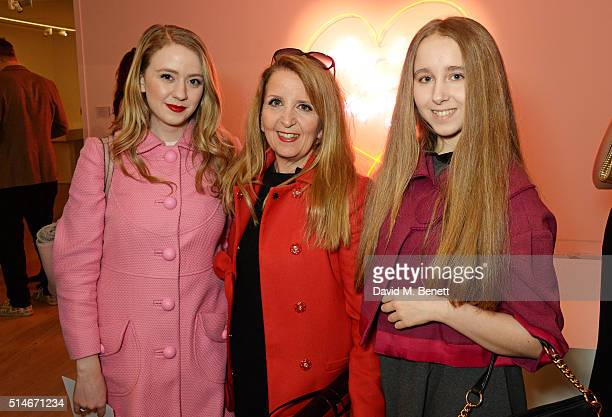 Gillian McKeith and daughters Skylar McKeithMagaziner and Afton McKeithMagaziner attend 'David Beckham The Man' a gala auction of original signed...
