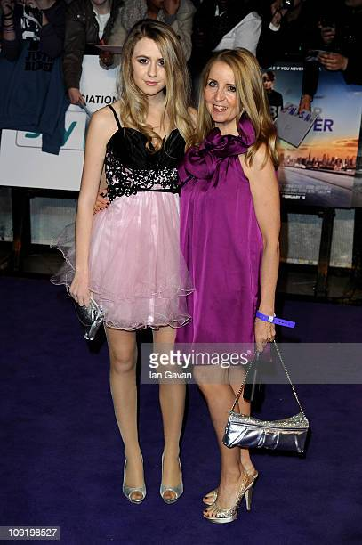 Gillian McKeith and her daughter Skylar McKeithMagaziner attend the UK Premiere of Justin Bieber Never Say Never at Cineworld 02 Arena on February 16...