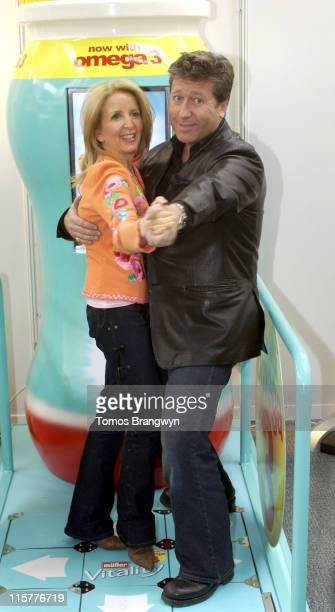 Gillian McKeith and Neil Fox during The Vitality Show 2006 London Press Launch and Photocall at Olympia in London Great Britain