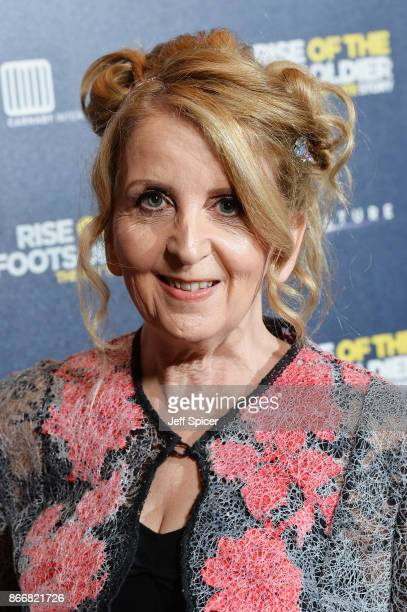 Gillian McKeith arriving at the UK Premiere of 'Rise of the Footsoldier 3 The Pat Tate Story' at Cineworld Leicester Square on October 26 2017 in...