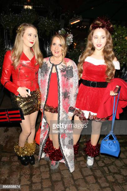 Gillian McKeith attending Piers Morgans Christmas party at the Scarsdale Tavern on December 21 2017 in London England