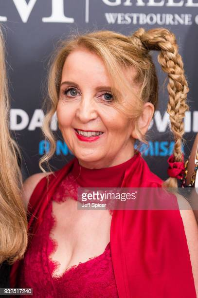 Gillian McKeith attends Dan Baldwin's 'A New Optimism' private view at Maddox Gallery on March 15 2018 in London England