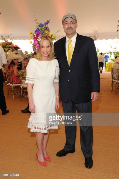 Gillian Miniter and Doug Blonsky attend 36th Annual Frederick Law Olmsted Awards Luncheon Central Park Conservancy at The Conservatory Garden in...