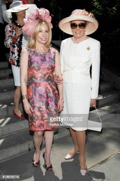 Gillian Miniter and Norma Dana attend CENTRAL PARK CONSERVANCY's 28th Annual Fredrick Law Olmsted Awards Luncheon at Conservatory Garden on May 5th...