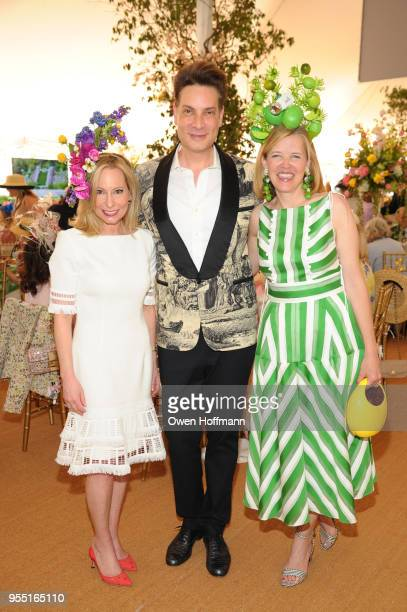 Gillian Miniter Cameron Silver and Lela Rose attend 36th Annual Frederick Law Olmsted Awards Luncheon Central Park Conservancy at The Conservatory...
