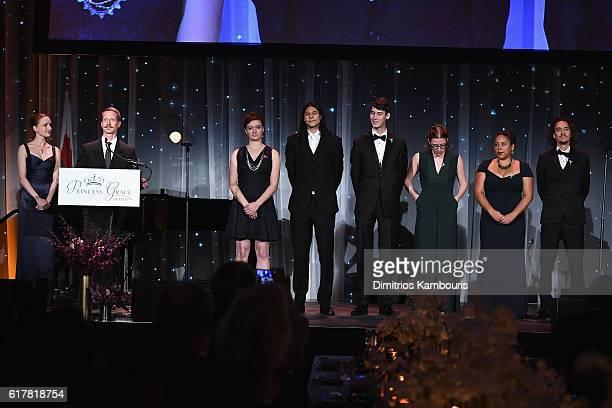 Gillian Murphy and Ethan Stiefel annouce the 2016 Princess Grace Film Award Winners Beryl Allee Langston Sanchez Gordon Straub Nellie Kluz Candy...