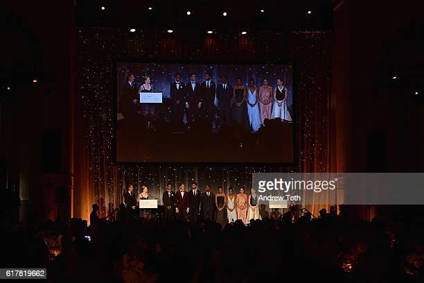 Gillian Murphy and Ethan Stiefel annouce the 2016 Princess Grace Dance Award Winners Tyson Clark Riley O'Flynn Marc Crousillat Jeffery Duffy Paige...