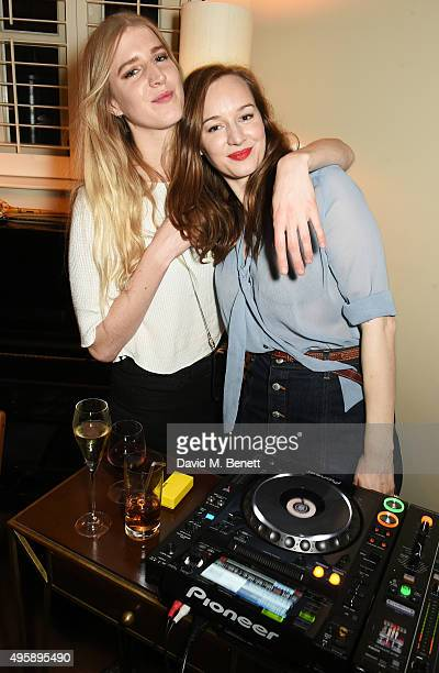 Gillian Orr and Lou Hayter attend a private dinner hosted by Alexa Chung to celebrate the launch of her app Villoid and her upcoming Elle Magazine...