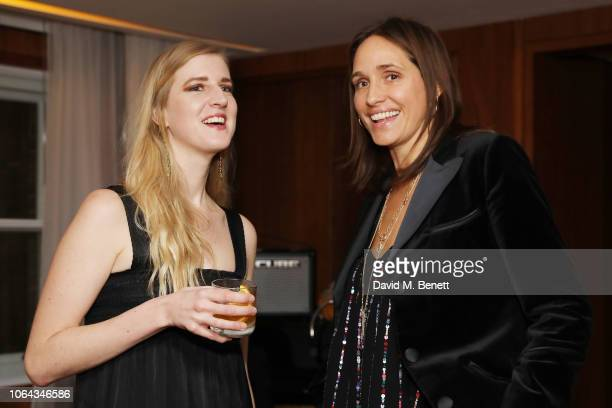 Gillian Orr and Rosemary Ferguson wearing ALEXACHUNG attends Alexa Chung's CHUNGSGIVING dinner to celebrate Thanksgiving and the launch of her...