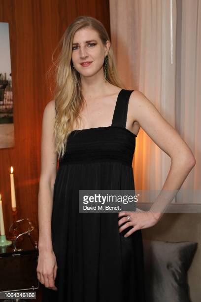 Gillian Orr wearing ALEXACHUNG attends Alexa Chung's CHUNGSGIVING dinner to celebrate Thanksgiving and the launch of her exclusive ALEXACHUNG holiday...