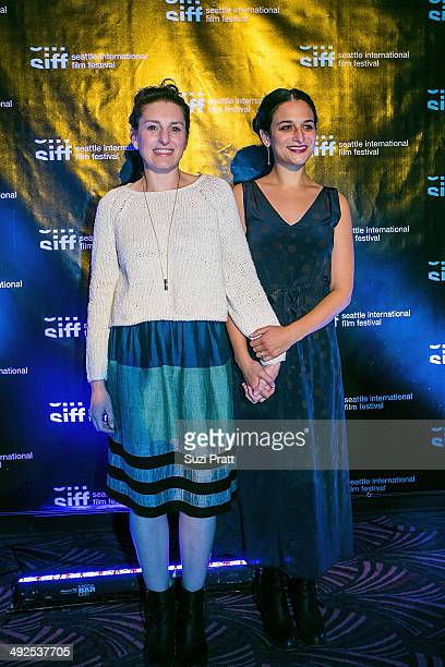 Gillian Robespierre and Jenny Slate of Obvious Child pose for a photo at the Seattle International Film Festival on May 20 2014 in Seattle Washington