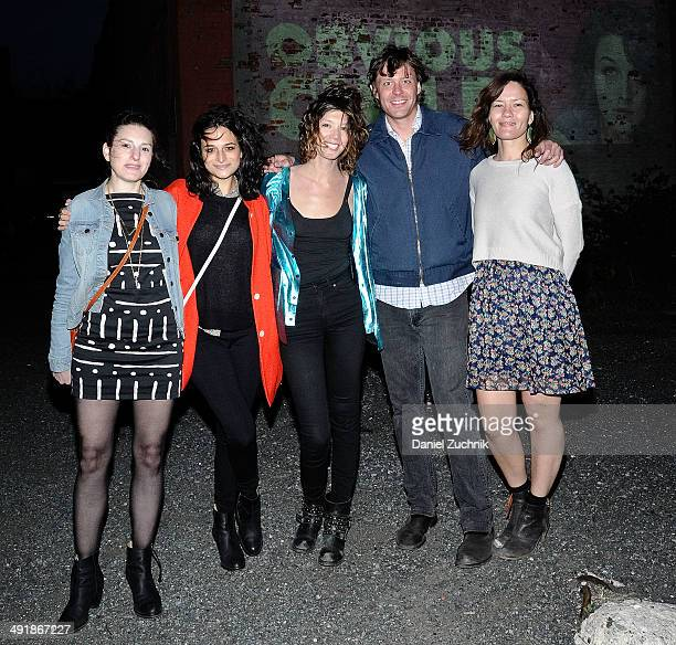 Gillian Robespierre Jenny Slate Elisabeth Holm Dan Nuxoll and Genevieve Delaurier attend Rooftop Films screening of The Obvious Child on May 17 2014...
