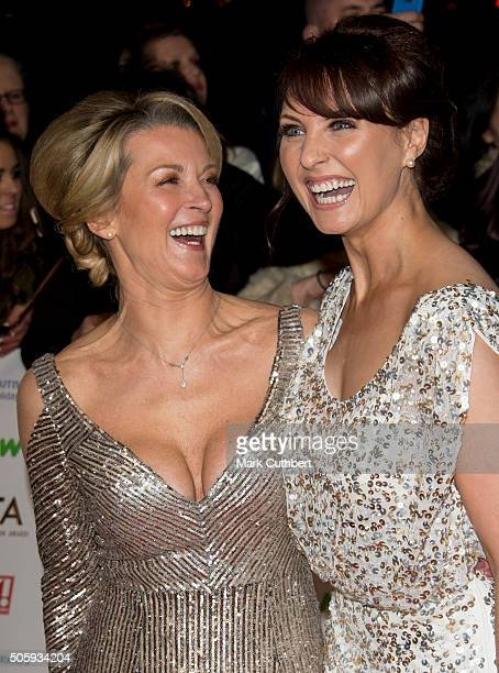 Gillian Taylforth and Emma Barton attend the 21st National Television Awards at The O2 Arena on January 20 2016 in London England