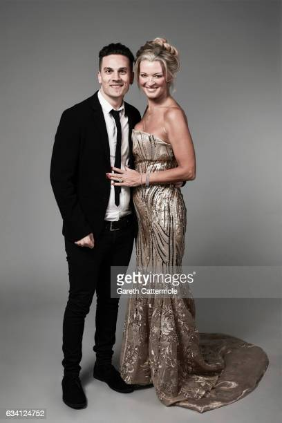 Gillian Taylforth and guest attend the National Television Awards Portrait Studio at The O2 Arena on January 25 2017 in London England