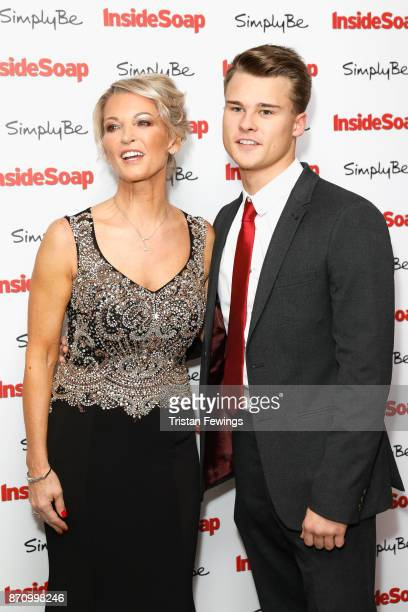 Gillian Taylforth and Harrison TaylforthKnights attend the Inside Soap Awards held at The Hippodrome on November 6 2017 in London England
