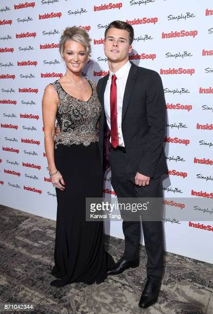 Gillian Taylforth and Harrison TaylforthKnights attend the Inside Soap Awards at The Hippodrome on November 6 2017 in London England