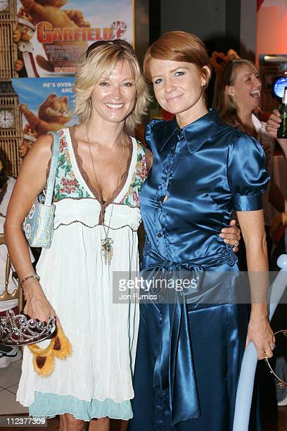 Gillian Taylforth and Patsy Palmer during 'Garfield A Tail of Two Kitties' Gala Screening at Vue West End in London Great Britain