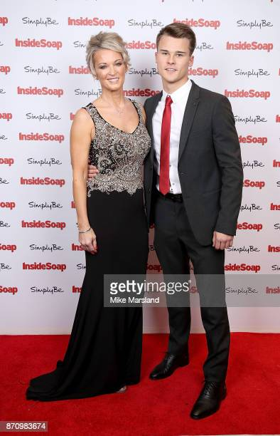 Gillian Taylforth and son Harrison TaylforthKnights attend the Inside Soap Awards held at The Hippodrome on November 6 2017 in London England