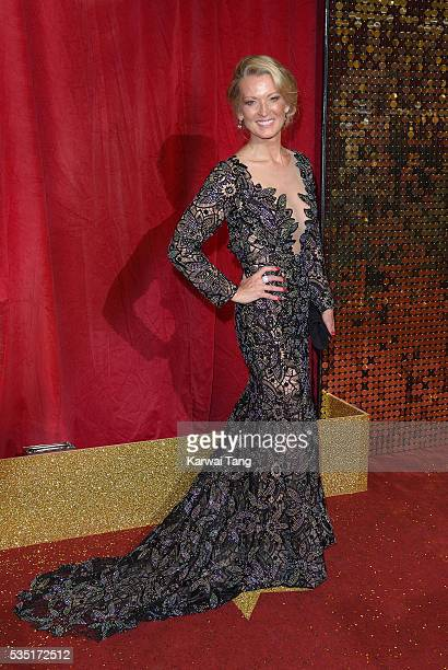 Gillian Taylforth arrives for the British Soap Awards 2016 at the Hackney Town Hall Assembly Rooms on May 28 2016 in London England