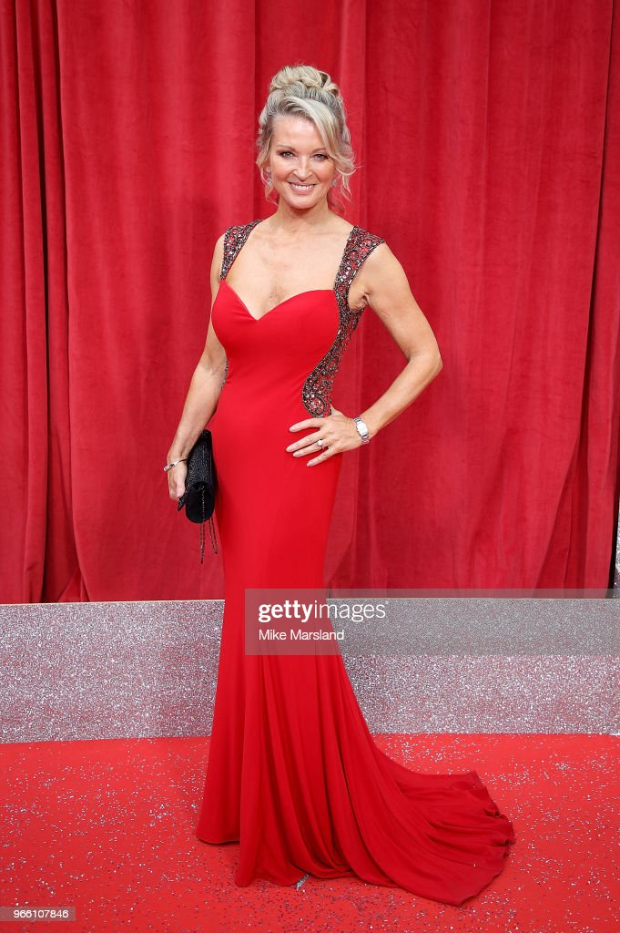 Gillian Taylforth attends the British Soap Awards 2018 at Hackney Empire on June 2, 2018 in London, England.