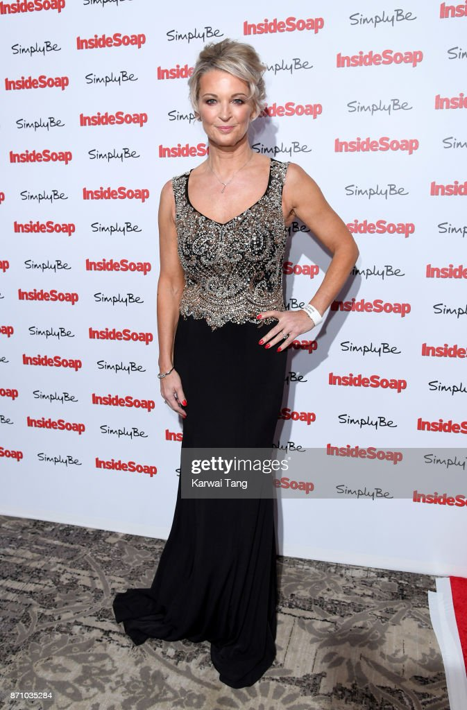Gillian Taylforth attends the Inside Soap Awards at The Hippodrome on November 6, 2017 in London, England.