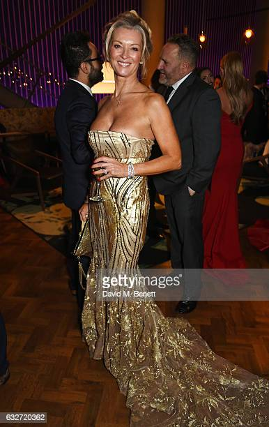 Gillian Taylforth attends the National Television Awards cocktail reception at The O2 Arena on January 25 2017 in London England