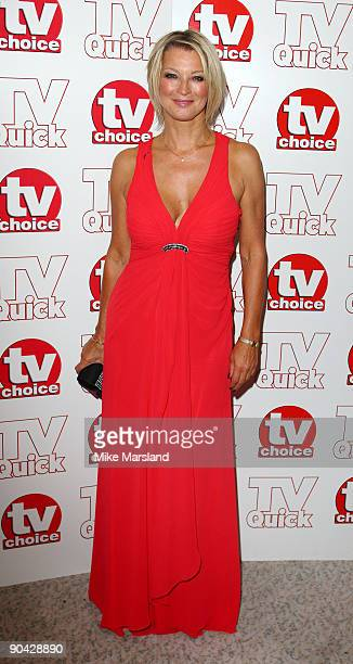 Gillian Taylforth attends the TV Quick Tv Choice Awards at The Dorchester on September 7 2009 in London England