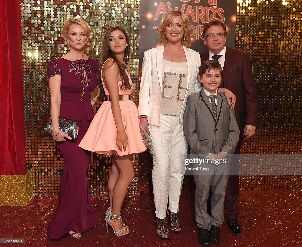 Gillian Taylforth, Mimi Keene, Laurie Brett, Eliot Carrington and Adam Woodyatt attend the British Soap Awards at Manchester Palace Theatre on May 16, 2015 in Manchester, England.