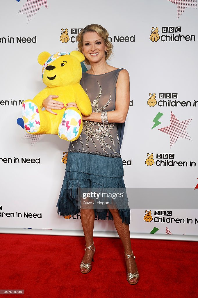 Gillian Taylforth shows her support for BBC Children in Need at Elstree Studios on November 13, 2015 in Borehamwood, England.