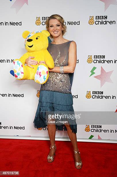 Gillian Taylforth shows her support for BBC Children in Need at Elstree Studios on November 13 2015 in Borehamwood England