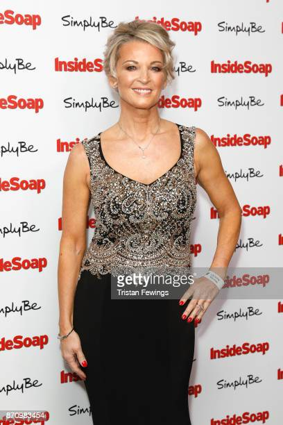 Gillian Taylforth winner of the Outstanding Achievement award attends the Inside Soap Awards held at The Hippodrome on November 6 2017 in London...