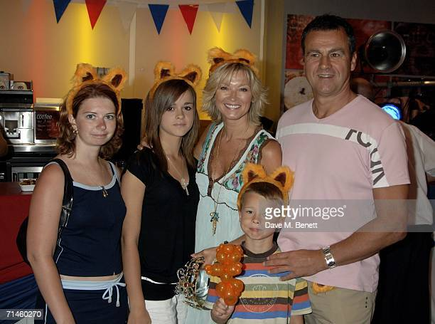 Gillian Taylforth with her family arrive at the premiere of 'Garfield 2 A Tail Of Two Kitties' at the Vue Cinema West End on July 16 2006 in London...