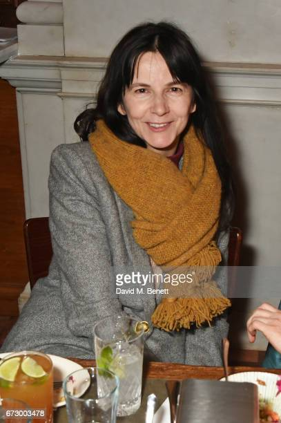 Gillian Wearing attends a preopening dinner hosted by Kate Bryan at Zobler's Delicatessen at The Ned London on April 25 2017 in London England