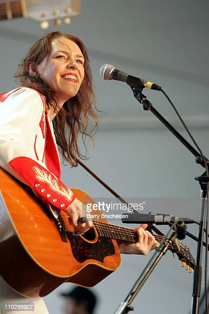 Gillian Welch during 2007 Coachella Valley Music and Arts Festival Day 1 at Empire Polo Field in Indio California United States