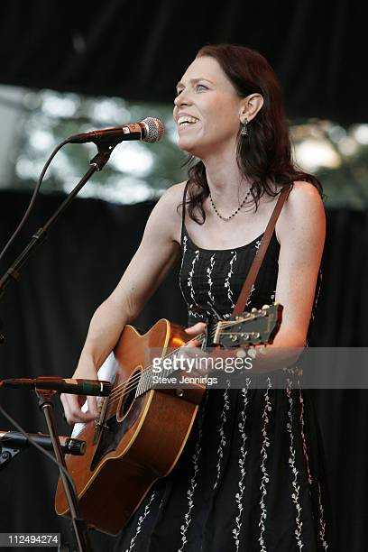 Gillian Welch during 20th Annual Bridge School Benefit Concert Day One at Shoreline Amphitheatre in Mountain View California United States