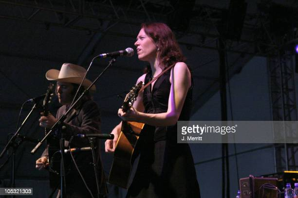 Gillian Welch during Bonnaroo 2004 Day 1 Gillian Welch at This Tent Centeroo Performance Fields in Manchester Tennessee United States