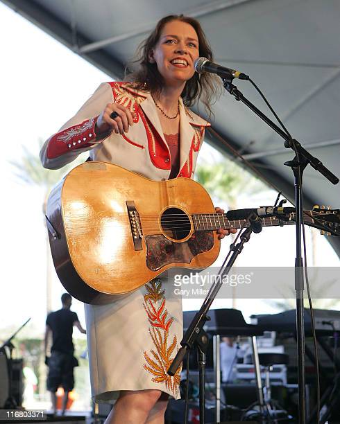 Gillian Welch during Coachella Valley Music and Arts Festival Day One Gillian Welch at Empire Polo Field in Indio California United States
