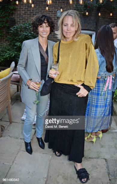 Gillian Wilkins and Bay Garnett attend the NETAPORTER dinner hosted by Alison Loehnis to celebrate the launch of Rosie Assoulin's exclusive...