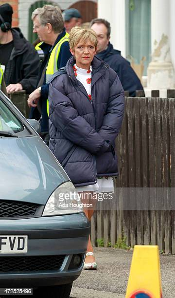 Gillian Wright is spotted filming up and coming scenes of Eastenders on May 7 2015 in London England