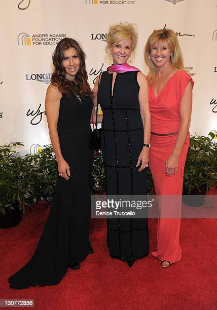 Gillian Wynn Elaine Wynn and Kevyn Wynn arrive at the Andre Agassi Foundation for Education's 16th Grand Slam for Children benefit concert at the...