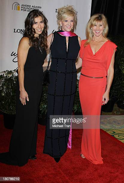 Gillian Wynn Elaine Wynn and Kevyn Wynn arrives at The Andre Agassi Foundation For Education's 16th Grand Slam for Children benefit concert held at...
