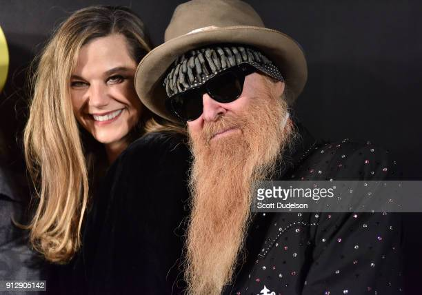 Gilligan Stillwater and Billy Gibbons of ZZ Top attend the Adopt the Arts annual rock gala at Avalon Hollywood on January 31, 2018 in Los Angeles,...
