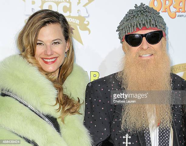 Gilligan Stillwater and musician Billy Gibbons attendd the Classic Rock And Roll Honour 2014 Award Ceremony at Avalon on November 4, 2014 in...